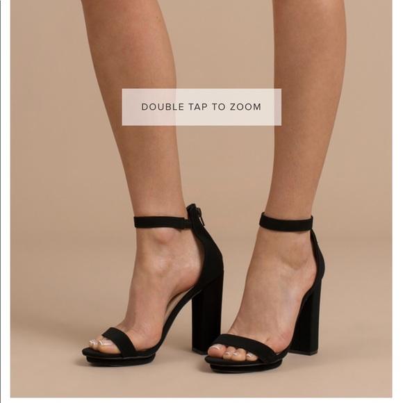 3133dd3985c Black block heel ankle strap heels from Toni